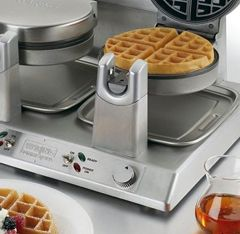 A detailed review of the Waring Pro Double Waffle Maker including the best place to buy online. Quality reviews at On The Gas.