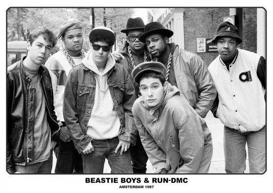 Beastie Boys i RUN-DMC Amsterdam 1987 - plakat