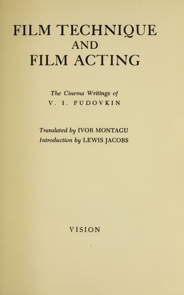 Stanley Kubrick actually made the transition from photography to film after reading Pudovkin's Film Technique. FREE DOWNLOAD: http://cinephilearchive.tumblr.com/post/63656895217/stanley-kubrick-actually-made-the-transition-from