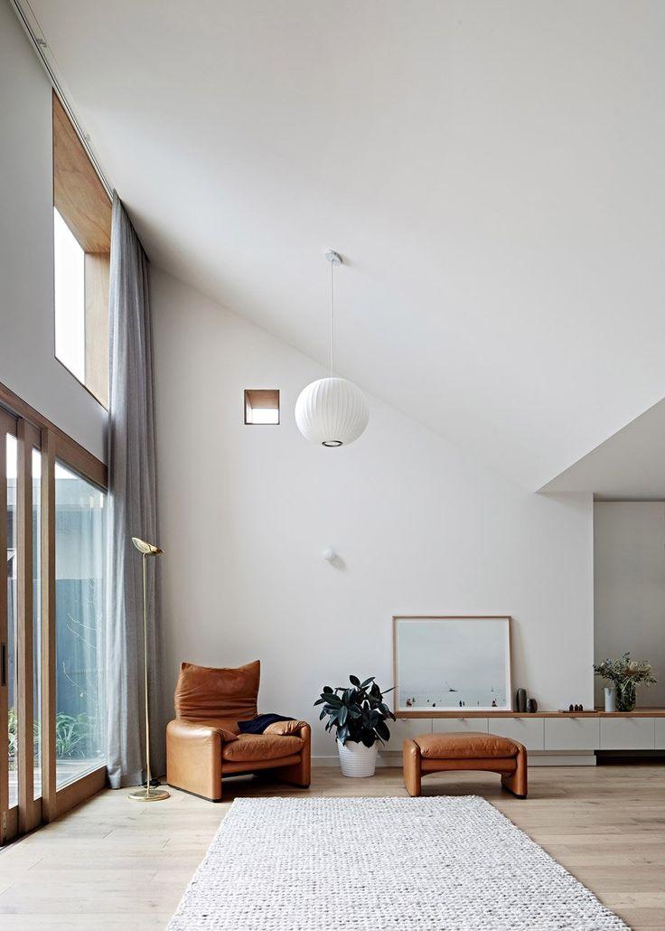Hoddle house in melbourne by freadman white · dachswohnräumewohnzimmer minimalistische einrichtung