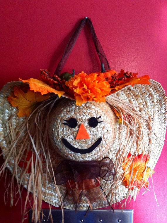 Scarecrow Straw Hat Wreath
