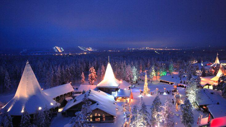 Santa Claus Village in the Arctic Circle -Rovaniemi, Lapland, Finland