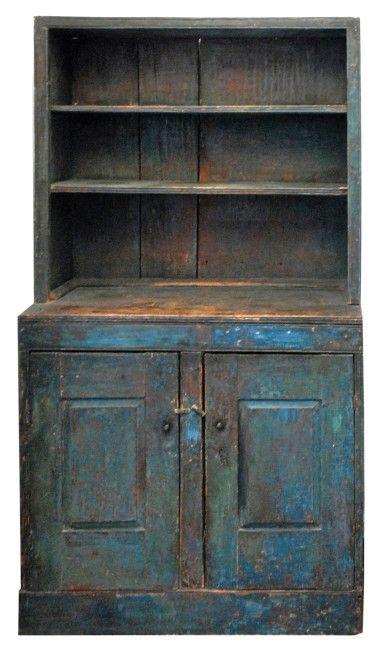 antique painted cupboard | Stepback Cupboard | Antique Painted Cupboards | Pinterest