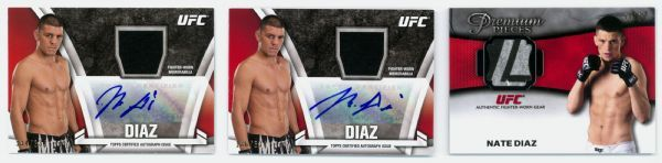 Topps UFC Nick and Nate Diaz Autograph and Memorabilia 8-ct Lot