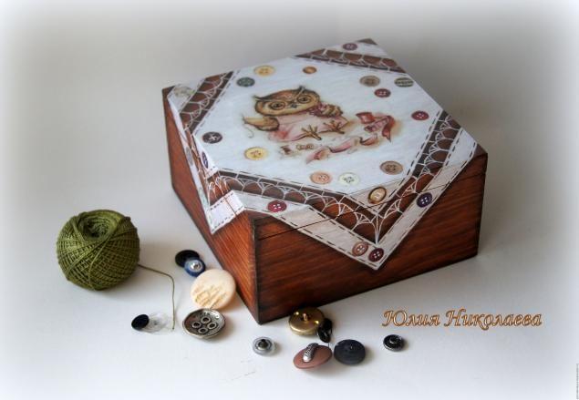 Нам понадобится: деревянная шкатулка морилка Плейд цвет вишня морилка Плейд цвет белая распечатка или салфетки в…