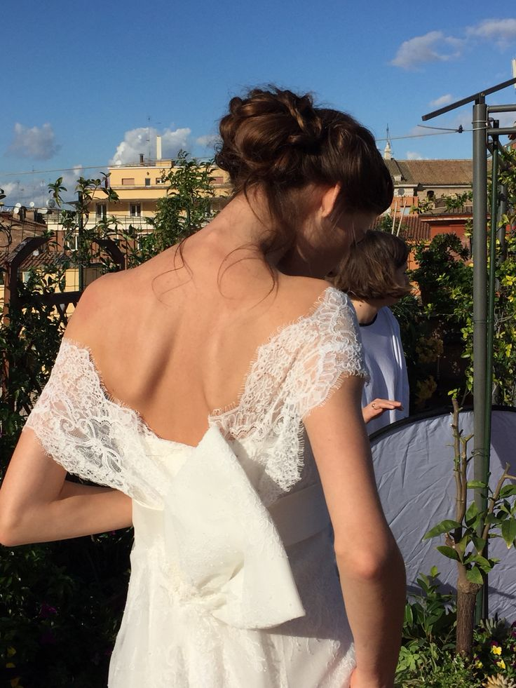 Backstage #acconciatura sposa @bartorelli shooting per antonella Rossi Vogue sposa 2015