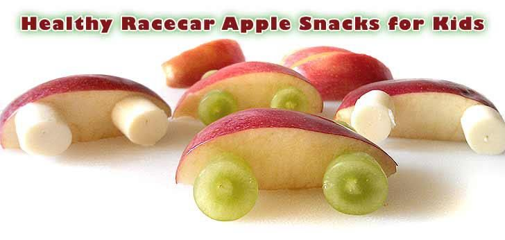 SUPER CAR SNACK  Apple  Grapes and/or String Cheese  Toothpicks    Stick two toothpicks through each of your apple slices.  Cut your grapes in half to make wheels for your race car.  We also sliced some string cheese to make tires for our race car snack.  How fun for a snack. This can be made gluten free and dairy free.
