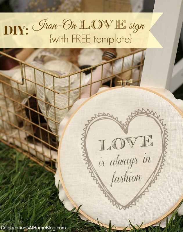 "IRON-ON TRANSFER SIGN WITH FREE ""LOVE"" TEMPLATE #diy #bridalshower #shabbychicIronon Transfer, Transfer Signs, Free Templates, Crafts Etc, Bridalshower Shabbychic, Diy Crafts, Diy Bridalshower, Iron On Transfer, Templates Diy"