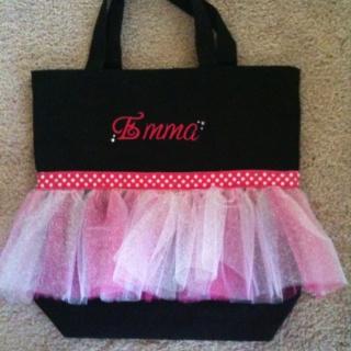 Cute dance bag mom & I made.
