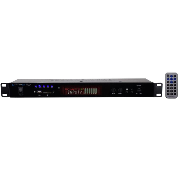 Technical Pro UREC7 Professional DJ Rack Mountable USB/SD Recording Deck