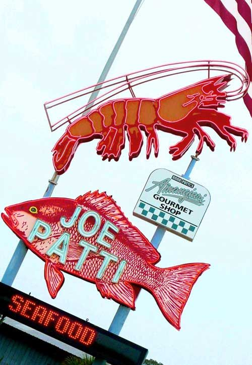 If you go to Pensacola, bring your ice chest and load up on a large variety of fresh-off-the-boat fish at Joe Patti's on the way out of town. They also have a fantastic sushi diner, gourmet food shop & wine store.