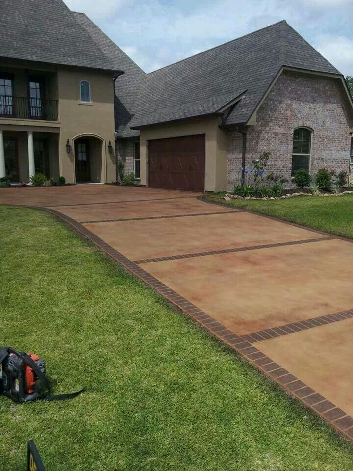 Stained Driveway With Chocolate Brick Overlay  Home Ideas. House Backyard Patio. The Patio Restaurant Auckland. Small Outside Garden Table. Patio Homes For Sale Florida. Patio Furniture Sale Kelowna. Restaurant Patio Equipment. Homemade Patio Bars. Designer Patio Irving