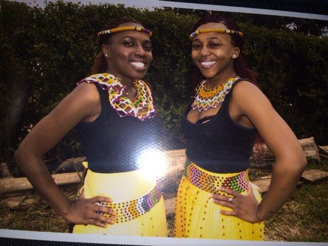 African Zulu traditional attire