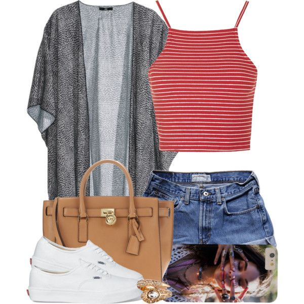5|14|15 by miizz-starburst on Polyvore featuring polyvore fashion style Topshop H&M Abercrombie & Fitch MICHAEL Michael Kors ASOS Vans