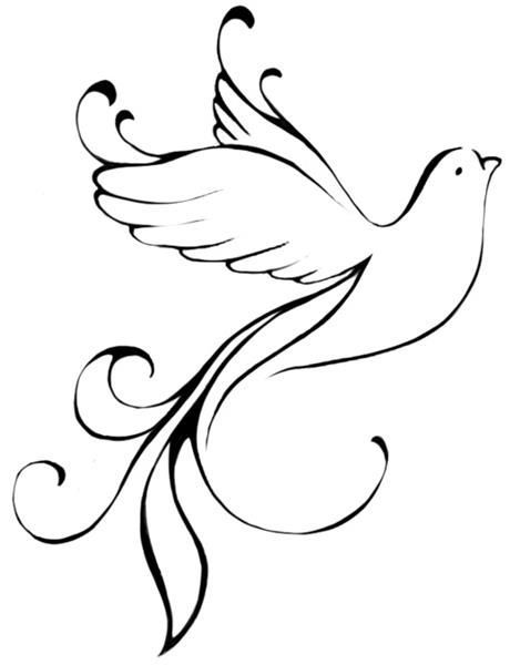 """""""Jump and watch yourself fly"""" with this dove using the single curl of the tail to begin the """"J"""""""