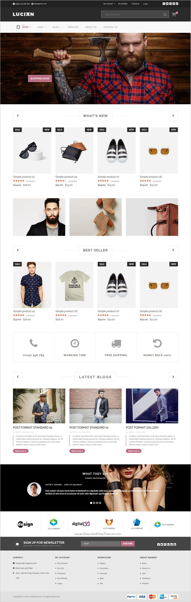 VG Lucian is a well-designed responsive #WooCommerce #WordPress theme for #webdev stunning eCommerce website with 8 unique homepage layouts download now➩ https://themeforest.net/item/vg-lucian-responsive-ecommerce-wordpress-theme/17042399?ref=Datasata