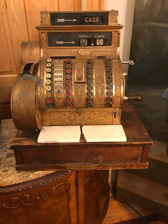 Ancienne Caisse Nationale National Cash Register Cash Register Vintage Cash Register
