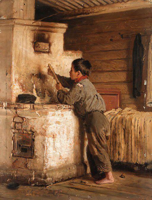 Ilya Effimovitch Repin (1844-1930) - A boy playing the balalaika