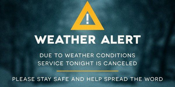 Due to the weather forecast in our area being upgraded to Flooding, Tornado warnings, and Thunderstorms we are CANCELING WEDNESDAY SERVICE TONIGHT! Please stay safe and help us get the word out!  #CliffdaleAlive #WhereLoveWorks