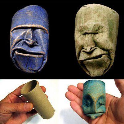 demais!!   arte com rolos de papel higiênico, do artista francês Jacquet Fritz Junior