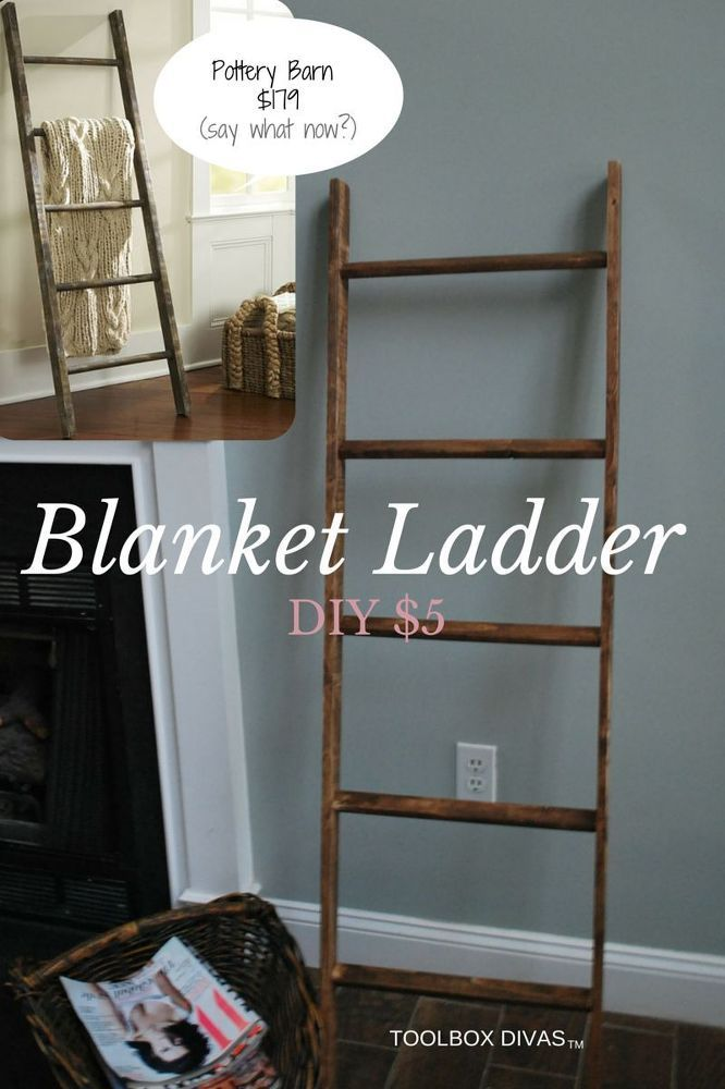 DIY Blanket Ladder For A Babys Room