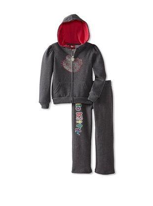 61% OFF Hello Kitty Girl's Fleece Active Set (Charcoal Heather)