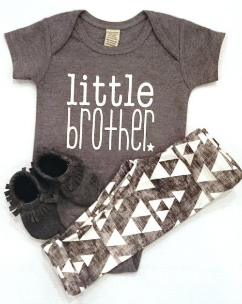Little Brother Onesie - Grey