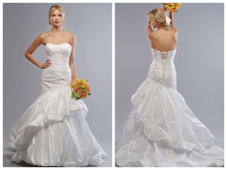 Cheap Fancy A Line Strapless Chapel Train Organza Simple: 78+ Ideas About Pleated Wedding Dresses On Pinterest