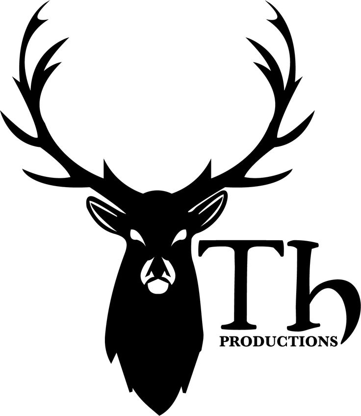 Illustrative logo of a stag for a film production company  #logo #design #stag #film #production