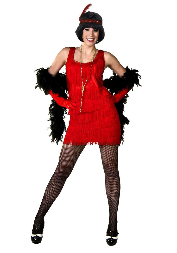 Flapper Girl Fashion   Red Flapper Fashion Dress