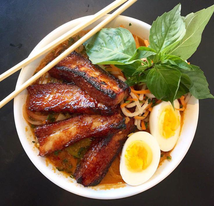 5 spice roasted pork belly pho mi yu noodle bar slurp