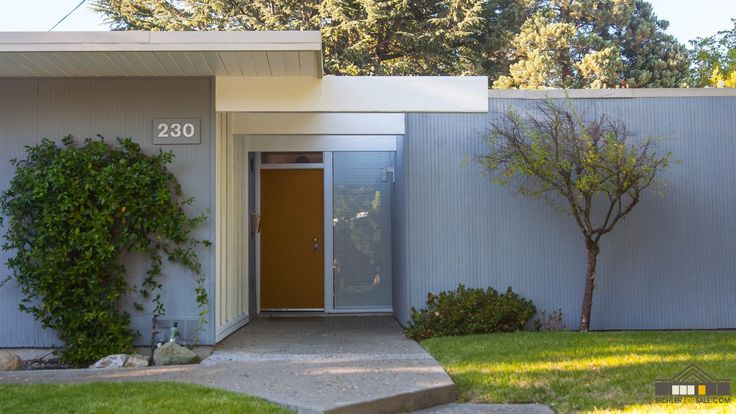 48 best images about exterior on pinterest steel garage for Eichler paint colors