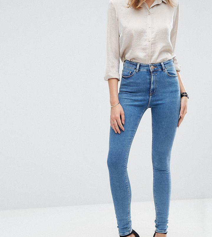 ASOS Tall ASOS TALL Ridley Skinny Jean in Jojo Wash