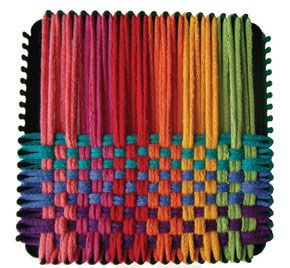 One of my first crafting memories: woven potholders! Didn't we all start out with these?? :)