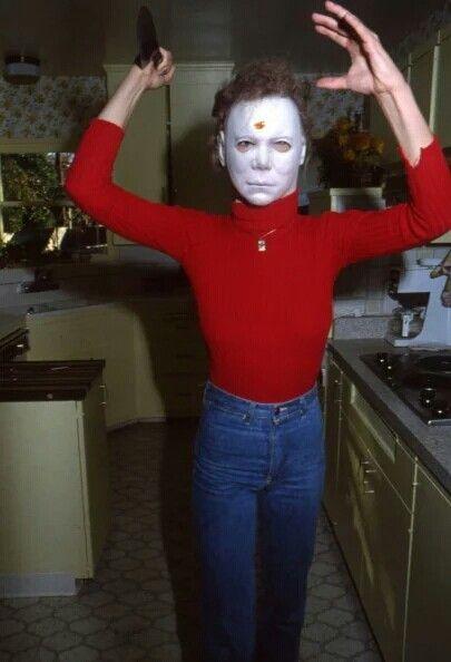 Jamie Lee Curtis ~ Rare Behind The Scenes Photo Of Halloween