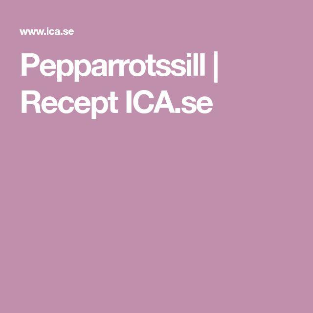 Pepparrotssill | Recept ICA.se