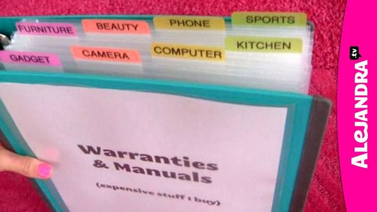How to Organize Warranties, Manuals & Receipts (+playlist)  and lots of organization info