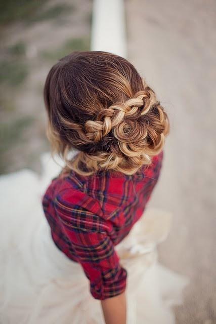: Wedding Dressses, Braids Updo, Long Hair, Prom Hair, Plaid Shirts, Hair Style, The Dresses, Wedding Hairstyles, Braids Hair