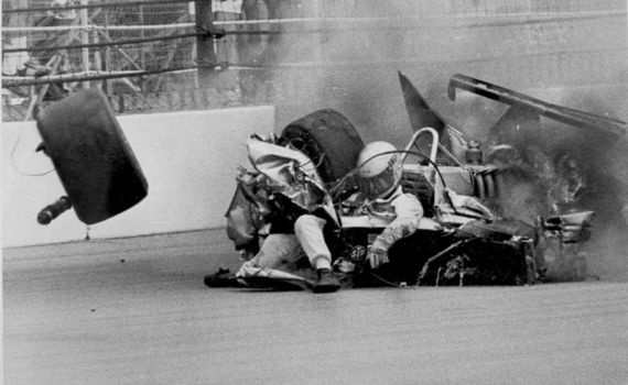 indy 500 1981 - Ongais crash thank goodness we will not see pic like this any more