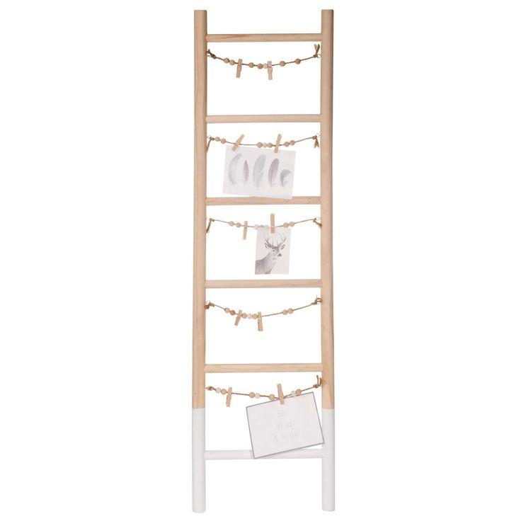 Houten fotokader in de vorm van een ladder 26 x 90 cm GRAPHIC