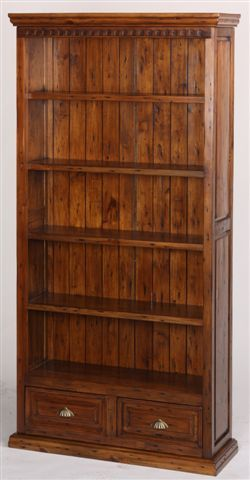 "Give our medium #reclaimed #bookcase a go! It's the perfect size (39"" W x 13"" D x 78"" H) and our most popular bookcase with 2 drawers on the bottom! www.antiquesdirect.ca"