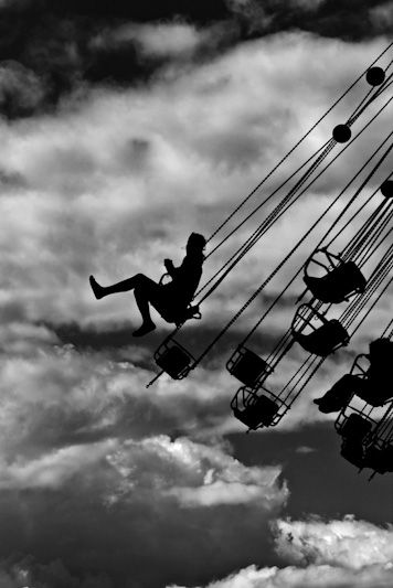 Guys on the carousel by Stefano Corso - #blackandwhite