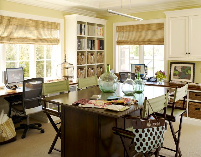 17 Best Images About Home Office Craft Room On Pinterest Built In Desk Offices And Craft Rooms