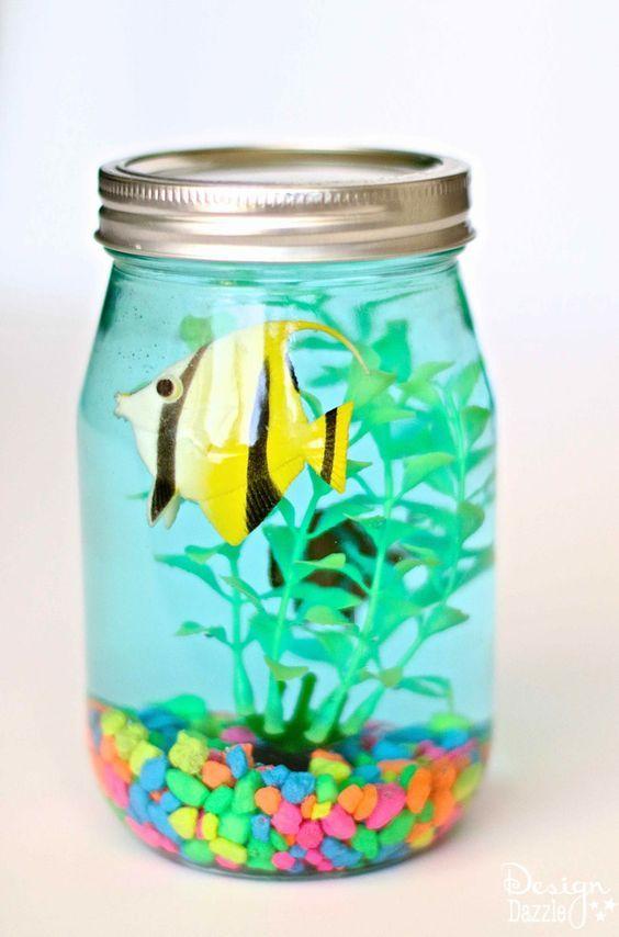 DIY Craft: Mason Jar Aquarium 1