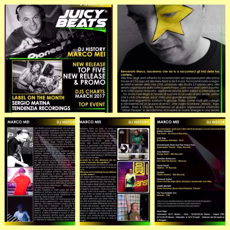 Check out my interview , chart for Italian Magazine Juicy Beats  http://www.juicybeatsmag.it/433701220