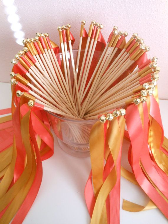 Wedding Wands  50 double ribbon wands with by BellaBrideCreations, $62.50