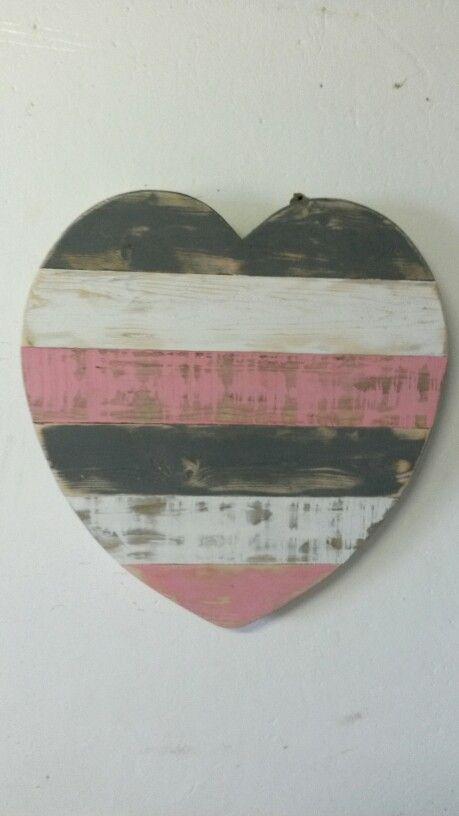 Heart Rustic (Pink, White, Grey) (Made by: Shane Ikin)
