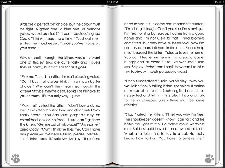 Screenshot of Pusshycat Tails pages 2-3 on iTunes.