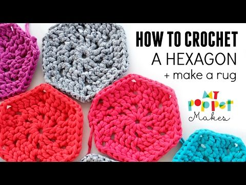 How to Crochet: Chunky Hexie Crochet Rug Pattern - My Poppet Makes