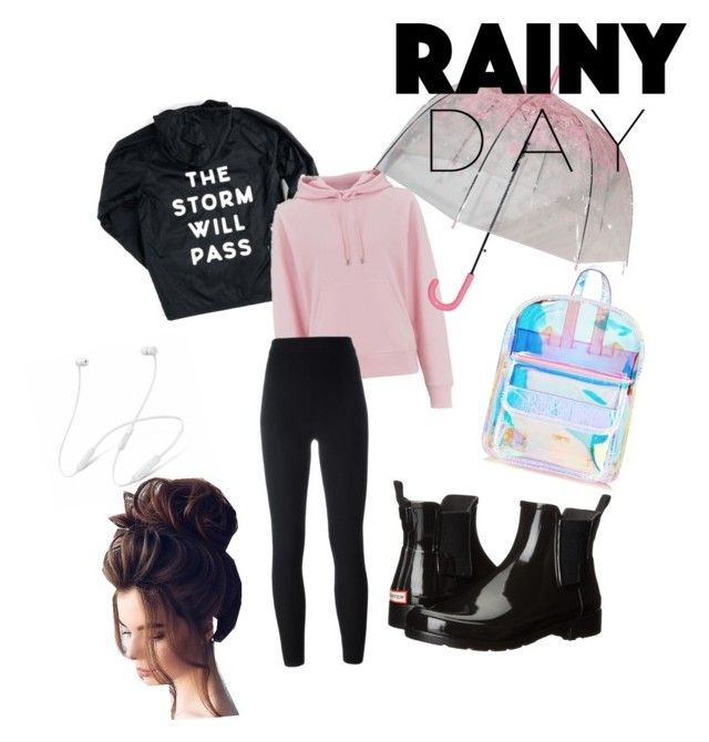 """""""Rainny day edit"""" by lombardi-lilou on Polyvore featuring mode, Wood Wood, Hunter, Yeezy by Kanye West, Skinnydip et Gerber"""